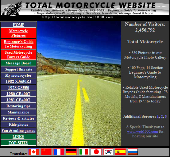2000-2002 Total Motorcycle Home Page