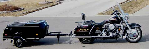 1997 Harley Davidson Road King with Tiny Mite Trailer