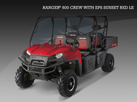 2010 Polaris Ranger 800 CREW EPS Sunset Red LE