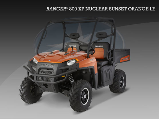 2010 Polaris Ranger 800 XP Nuclear Sunset Orange LE
