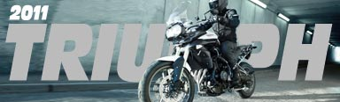 New 2011 Triumph Tiger 800, 800XC, 675R, 675SE, Speed Triple, Sprint GT, Speedmaster, Thunderbird Storm, America and more