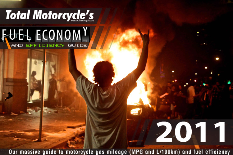 2011 motorcycle model fuel economy guide in mpg and l/100km: page 2