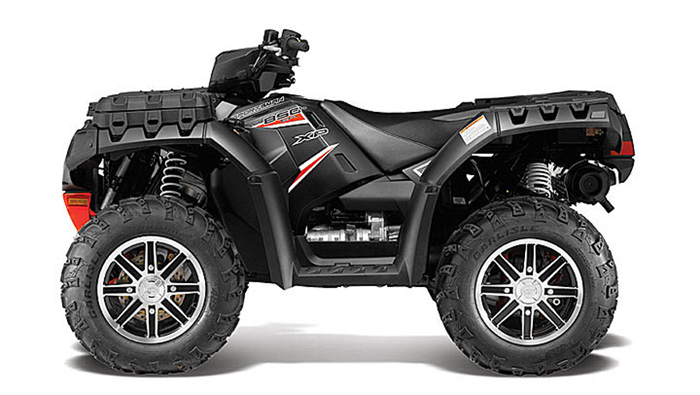 2013 Polaris Sportsman XP850 HO EPS Black Stealth LE