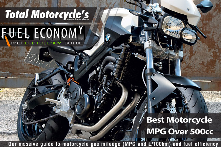 best motorcycle mpg over 500cc guide in mpg and l/100km
