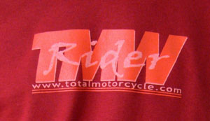 Cardinal Red Total Motorcycle T-shirts