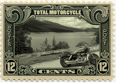Total Motorcycle Photo Gallery Postage Stamp Logo