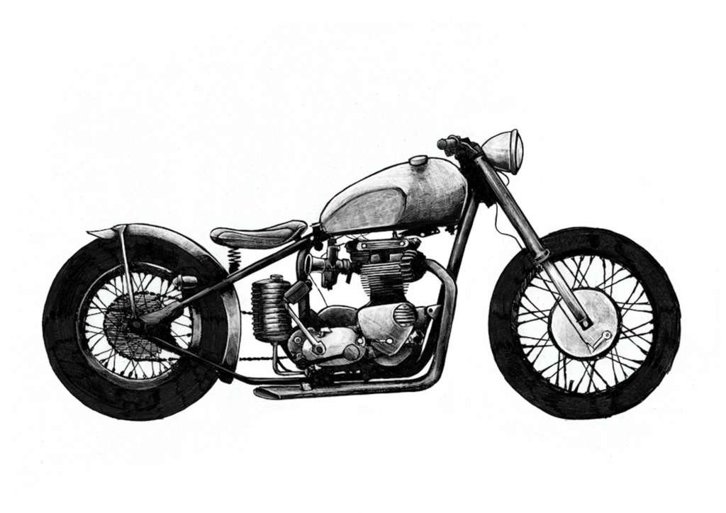 Bobber A tribute to minimalism, keeping only the essentials and featuring shortened fenders and a bobbed seat.