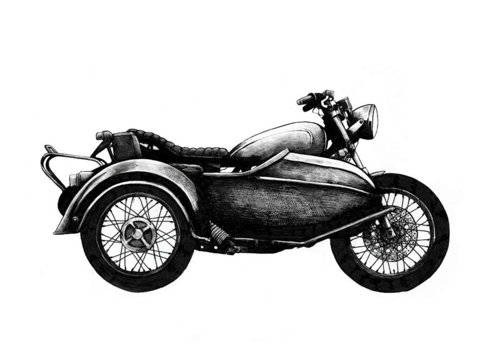 Side Car Classic styled motorcycles with room for three. A good way to invite a pal or pooch along for the ride.