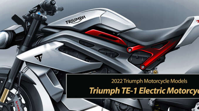 Triumph TE-1 Electric Motorcycle Revolution